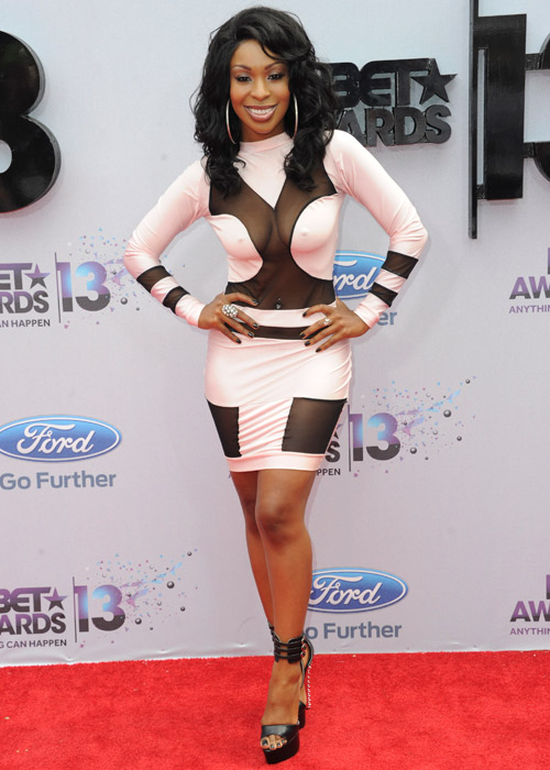 To the BET Awards and two awesome fashion monstrosities, beginning ...