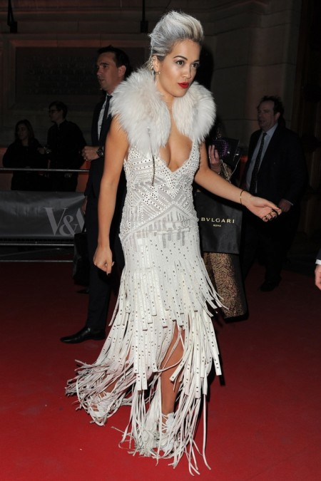 Rita Ora leaving The Glamour of Italian Fashion dinner