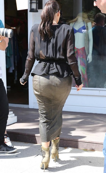 Kim leather skirt