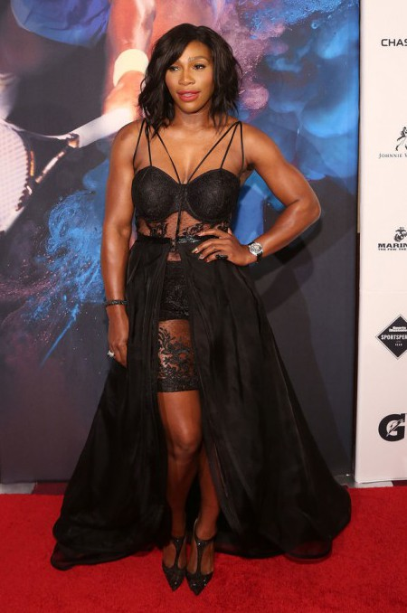 NEW YORK, NY - DECEMBER 15: Tennis champion Serena Williams attends the 2015 Sports Illustrated Sportsperson Of The Year Ceremony at Pier Sixty at Chelsea Piers on December 15, 2015 in New York City. (Photo by Taylor Hill/Getty Images)