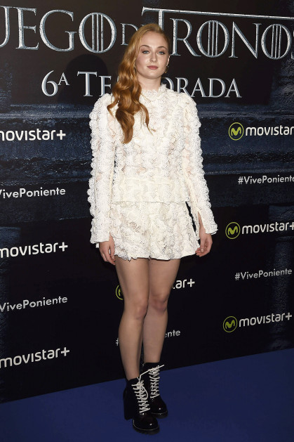 52106502 Celebrities attend a 'Game Of Thrones' photocell in Madrid, on Tuesday 28 June, 2016. Celebrities attend a 'Game Of Thrones' photocell in Madrid, on Tuesday 28 June, 2016. Pictured: Sophie Turner FameFlynet, Inc - Beverly Hills, CA, USA - +1 (310) 505-9876 RESTRICTIONS APPLY: USA/AUSTRALIA ONLY