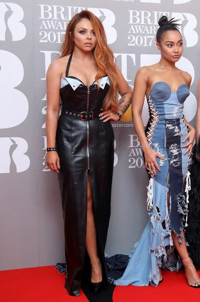 LONDON, ENGLAND - FEBRUARY 22: (EDITORIAL USE ONLY) (L-R) Jesy Nelson, Leigh-Anne Pinnock, Perrie Edwards and Jade Thirlwall of Little Mix attend The BRIT Awards 2017 at The O2 Arena on February 22, 2017 in London, England. (Photo by Mike Marsland/Mike Marsland/WireImage)