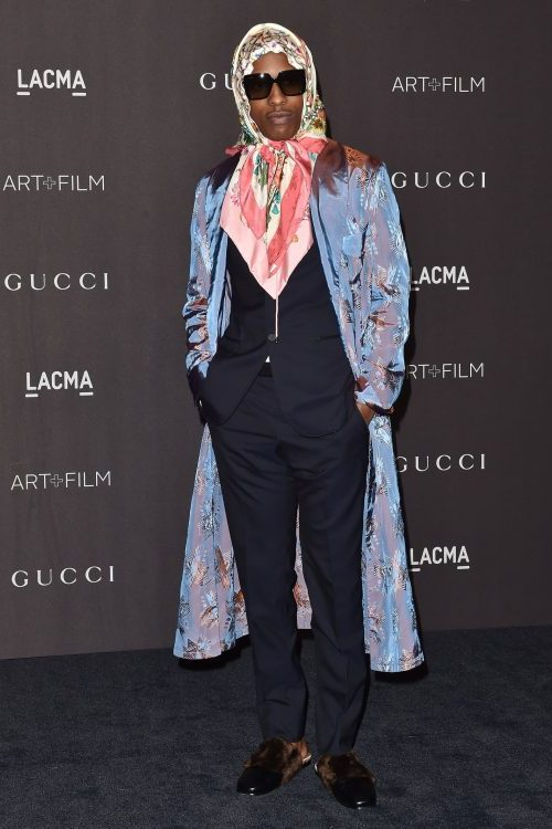 df96bec0 We start the week's review of clothing cock-ups at the LACMA Art + Film  party and rapper ASAP Rocky, wearing Gucci.
